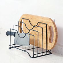 iron multi-functional kitchen storage pot lid cover cutting board knife rack kitchenware accessories organizer