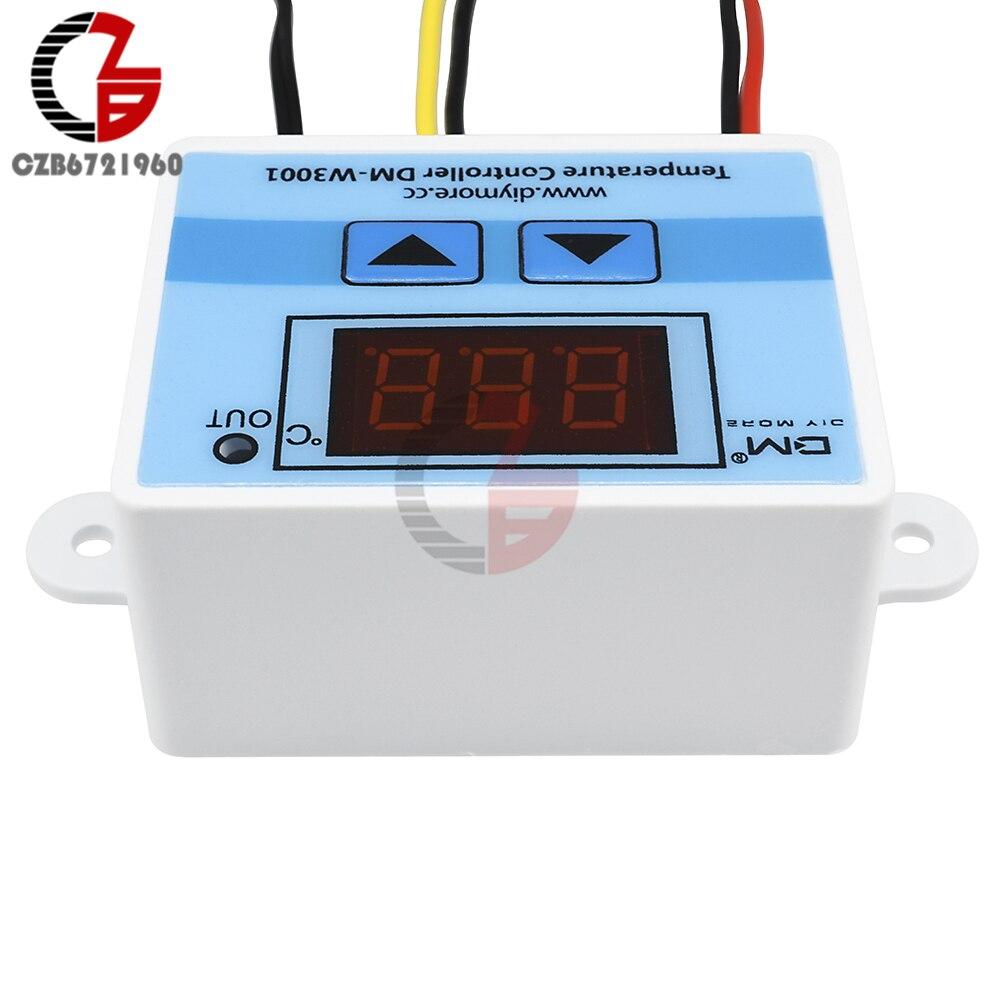 HTB1HSVHVkvoK1RjSZFwq6AiCFXap DC 12V 24V 110V 220V AC 20A LED Digital Temperature Controller Thermostat Thermometer Temperature Control Switch Sensor Meter