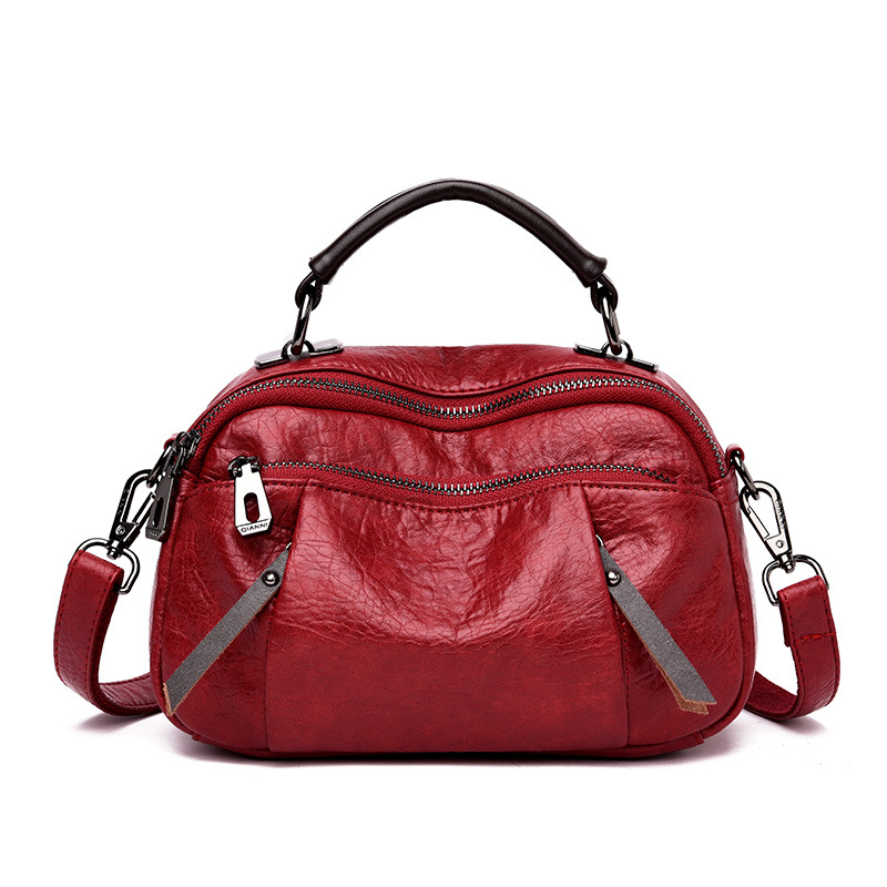 Gran venta 2018 nuevo bolso de hombro mujer Europa y América cremallera señoras bolso moda bolso envío gratis-in Cubos from Maletas y bolsas    1