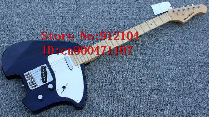 free shipping new Big John single wave special TL electric guitar in blue with basswood body and maple fingerboard    1234-3-3 free shipping new arrival on sale f stratocaster sky blue custom body maple fingerboard electric guitar in stock 16