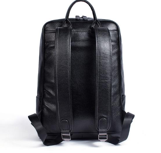 2018 décontracté business sac à dos en cuir véritable porter grande capacité hommes et femmes vache sac à dos en cuir pour ordinateur portable-in Sacs à dos from Baggages et sacs    3