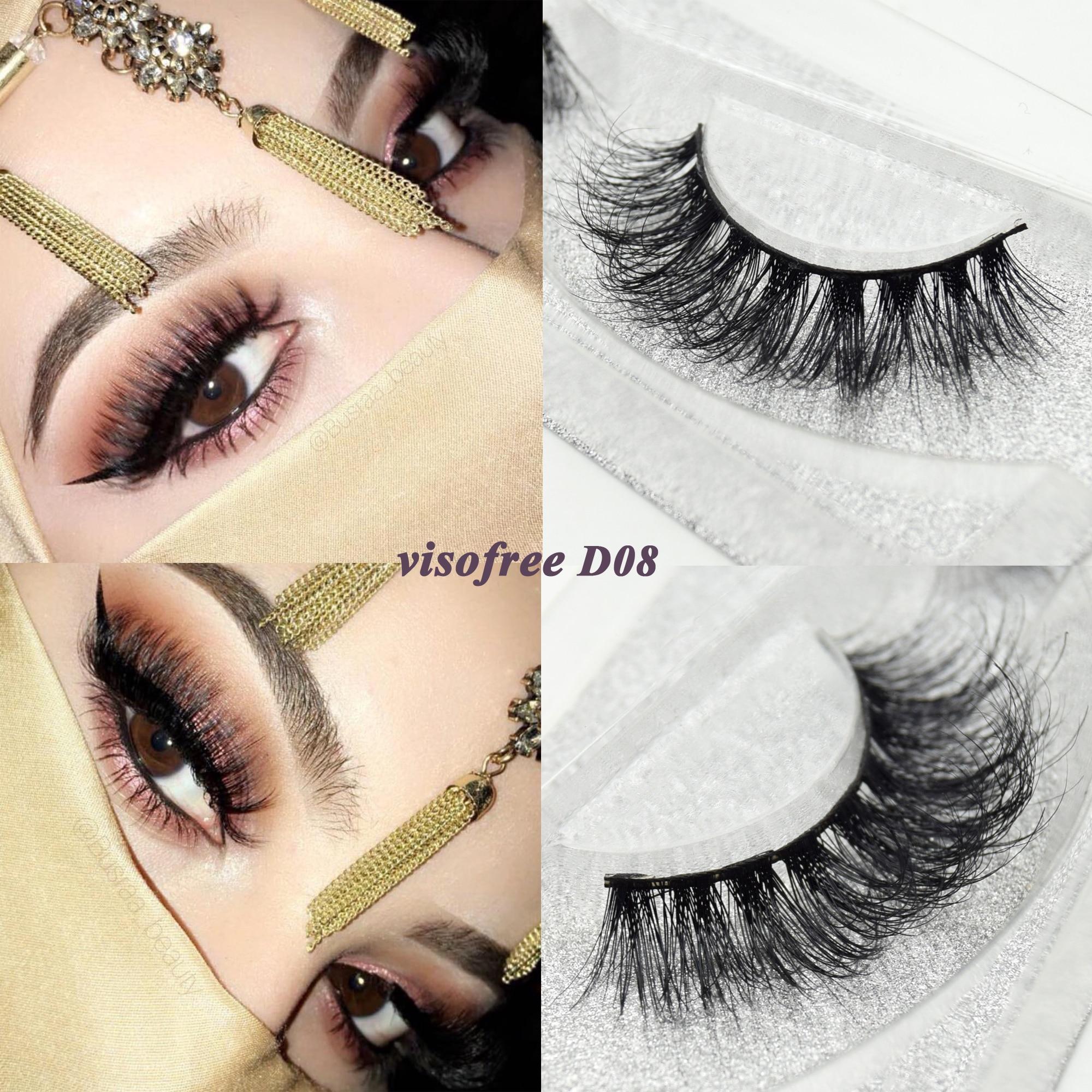 f16e0fca8dc Visofree eyelashes 3D mink eyelashes long lasting mink lashes natural  dramatic volume eyelashes extension false eyelashes D08 ~ Top Deal July 2019