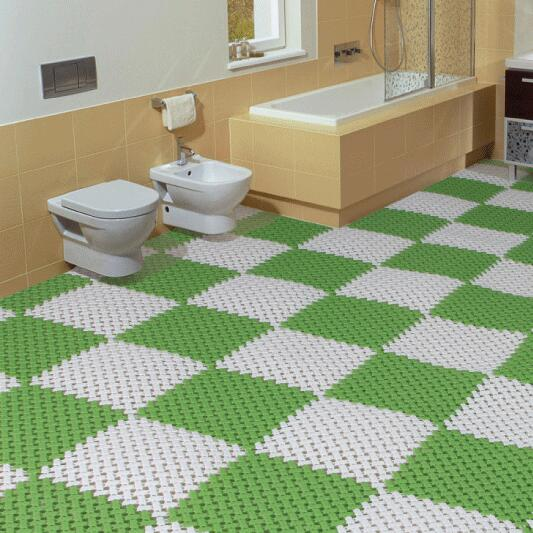 1 PCS 30*30cm PE Bath Mat Bathroom Non Slip Mat Waterproof Doormat ...