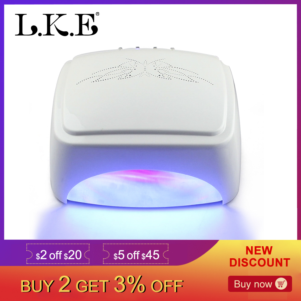 LKE 60W Nail Dryer CCFL+LED Nail Lamp Quick drying UV Lamp Gel Polish Auto-induction Lamp Of Nail Manicure Salon Nail Art ToolsLKE 60W Nail Dryer CCFL+LED Nail Lamp Quick drying UV Lamp Gel Polish Auto-induction Lamp Of Nail Manicure Salon Nail Art Tools