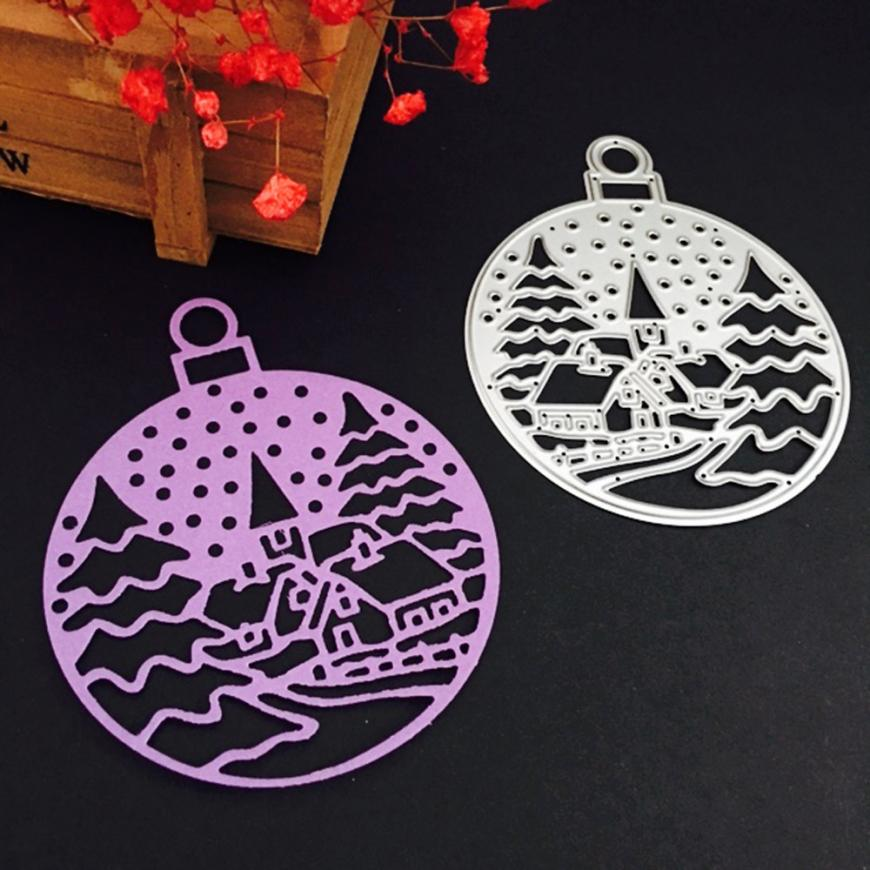 Cutting Dies For Scrapbooking My House Merry Christmas Metal Stencils Card Craft Gift Decoration 17OCT26