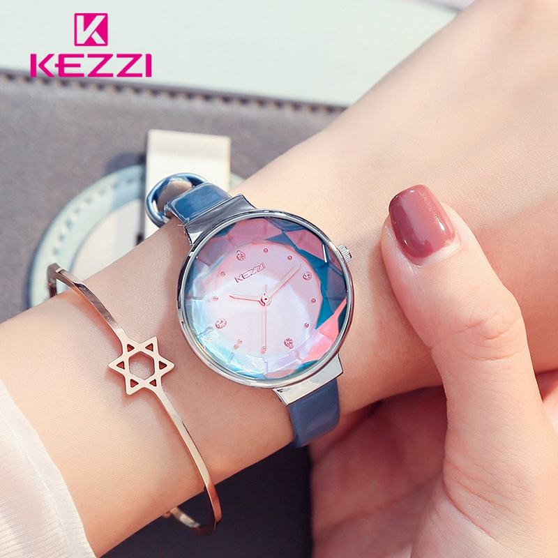 KEZZI Fine Belt Crystal Glass Simple and lovely Watches dames 'Daily - Dameshorloges - Foto 2