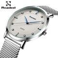 Readeel 2016 Top Marca de Luxo Relógios Homens Relógios de Pulso Cinta de Aço Inoxidável dos homens de Negócios Dress Watch Reloj Hombre Relógio Dos Homens