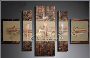 Cuadros Decoracion 5 piece panel canvas art Modern abstract  hand painted picture oil painting 25