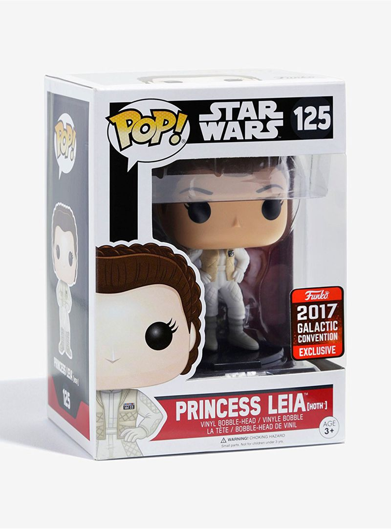 2017 Galactic Convention Exclusive Funko pop Official Star Wars - Hoth Princess Leia Vinyl Figure Collectible Model Toy in Stock