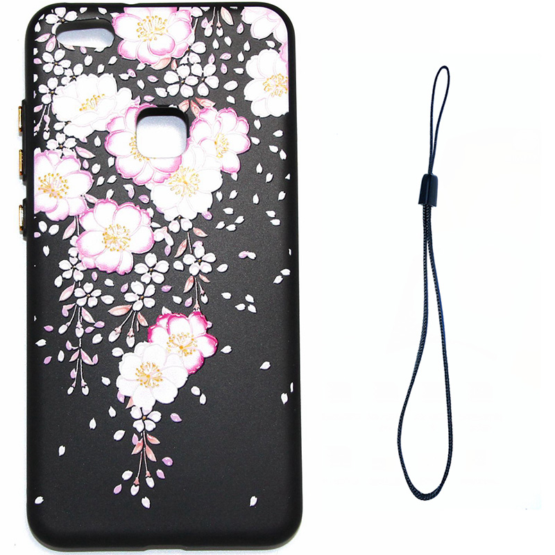 3D Relief flower silicone huawei P10 lite (9)
