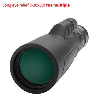 Monokular SCOKC 8-20 #215 50 o dużej mocy Zoom monokularowy teleskop FMC BAK4 pryzmat na koncerty myśliwskie podróże przyroda dekoracje tanie i dobre opinie 8-20X50 NBR+PVC 50mm 20mm 4 4-1 75 76m~31m Right diopter ring