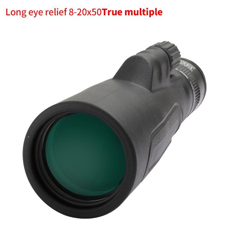 SCOKC BAK4 8-20x50 Alta Potência Zoom Monocular Lunetas-FMC Telescópio Prisma para a Caça Concertos Viajar Cenário Da Vida Selvagem