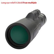 SCOKC Monocular con Zoom de alta potencia, telescopio FMC BAK4 prisma para caza, conciertos, viajes, paisaje de Vida Silvestre, 8 20x50