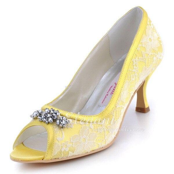 Online Buy Wholesale yellow satin heels from China yellow satin ...