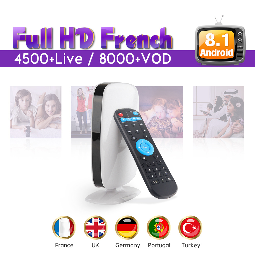 IPTV Subscription 1 Year QHDTV PRO Code Android 8.1 Smart TV Box Quad Core RK3229 IPTV Europe Belgium French Arabic IPTV Top Box amlogic s905w quad core android 7 1 tv box tx3 mini 2gb 16gb 1 year qhdtv pro account subscription europe french arabic iptv box