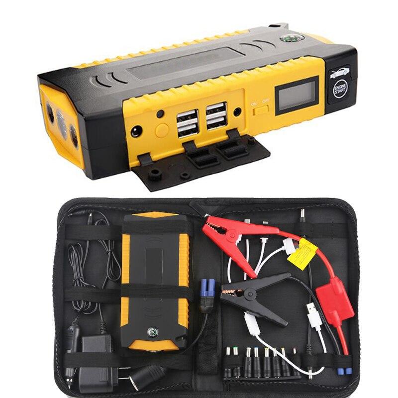 600A 82800 mAh dispositivo de arranque de Banco de potencia de arranque salto de la batería de coche de cargador de emergencia 12 V de batería de refuerzo