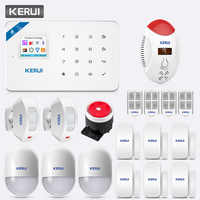 KERUI TFT Farbe Bildschirm W18 WIFI GSM Alarm System Home Sicherheit APP Control LED Display Stimme Strobe Kohlenmonoxid-detektor kit