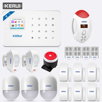 KERUI TFT Color Screen W18 WIFI GSM Alarm System Home Safety APP Control LED Display Voice Strobe Carbon Monoxide Detector Kit