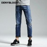 Jeans Mens Jeans Stretch Denyblood Duplo Cor Denim Magro Hetero Jeans Angustiados Rasgado Calças de Alta Qualidade Do Vintage 162045