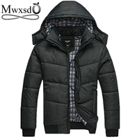 2014 New Brand Winter Jacket For Men Hooded Coats Casual Mens Thick Coat Male Slim Casual