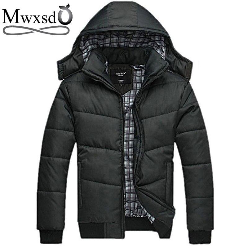 Mwxsd yeni Marka kış sıcak Ceket erkekler için kapüşonlu palto - Erkek Giyim - Fotoğraf 3