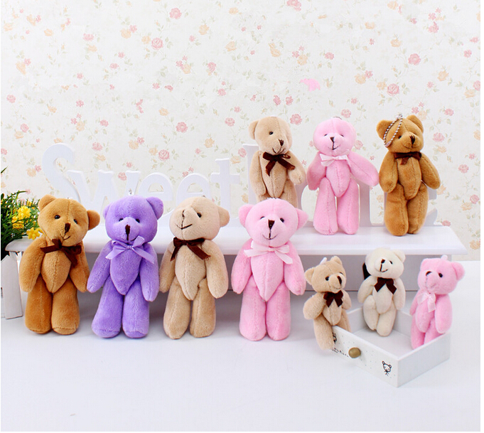 3Pcs 8cm Kawaii Small Teddy Bears Plush Soft Toys Stuffed Animals Ted Dolls for Children girlfriend Gifts free shipping ty collection beanie boos kids plush toys big eyes slick brown fox lovely children gifts kawaii stuffed animals dolls cute toys