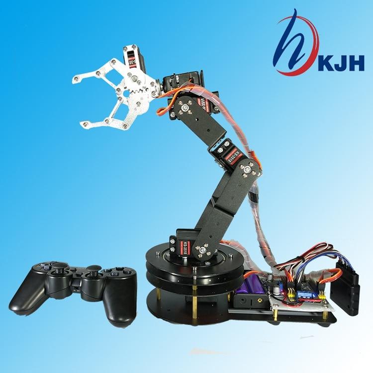 2019 Lps Funko För Arduino Robot 6 Dof Aluminiumklämma Klämmonteringssats Mekanisk Robotic Arm & Servos Metall Servo Horn-Silver