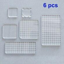 6 шт. набор акриловых прозрачных штампов для самостоятельного изготовления фотоальбомов