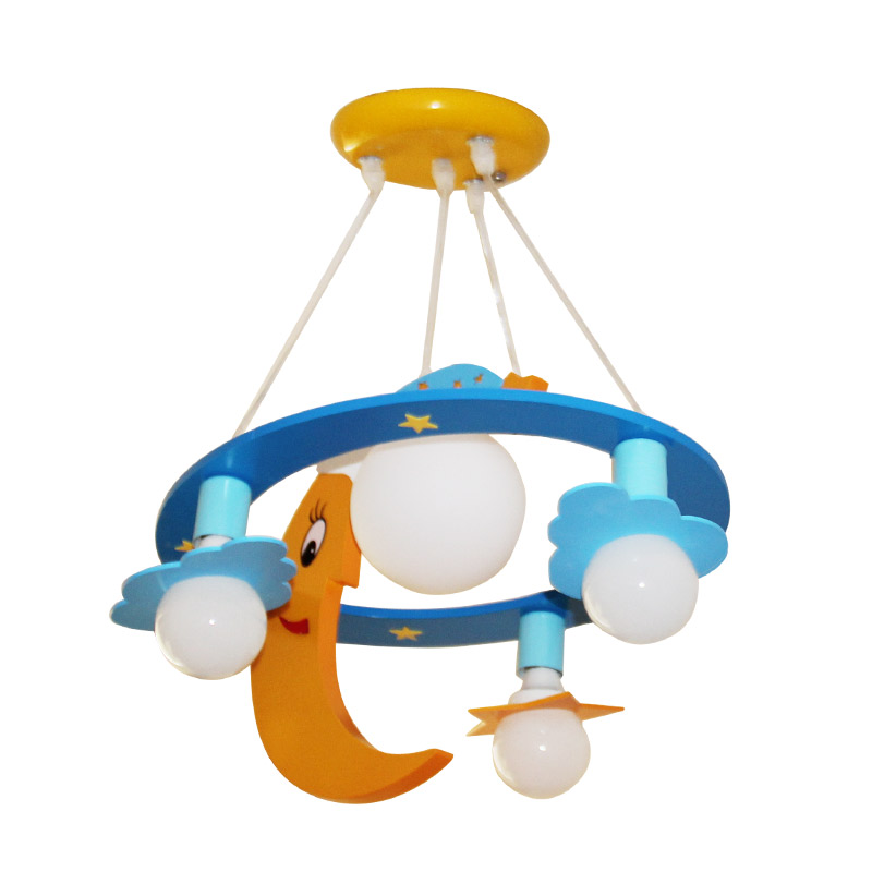 moon cartoon Pendant Lights personality childrens room lights bedroom boys and girls warm LED eye lamps LO72114