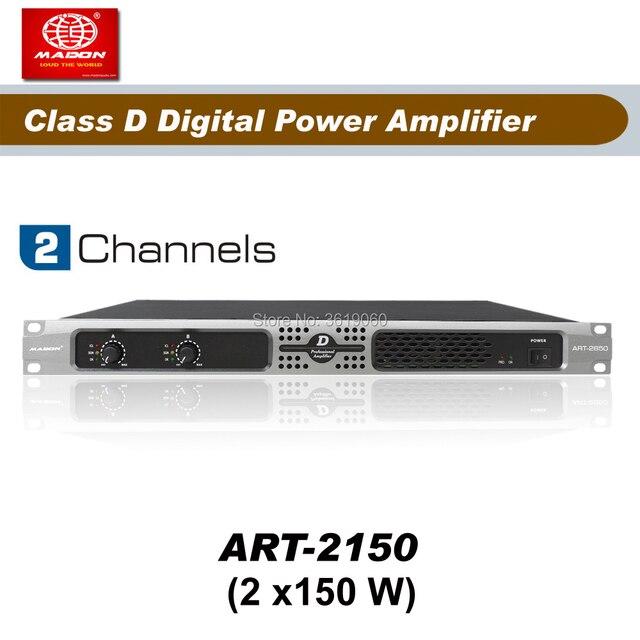 AMPLIFICADOR DE POTENCIA profesional digital, ART2150 , 2 canales, 150W, Clase D, envío gratis