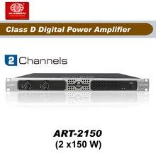 送料無料、ART2150 、 2 チャンネル 150 ワットクラスdデジタルプロのパワーアンプ