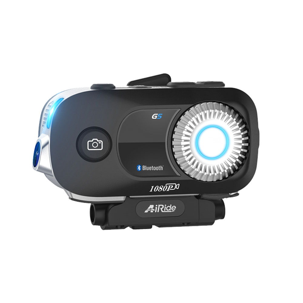 AiRide G5 Motorcycle Intercom 4 riders Moto Helmet Headset Bluetooth Communication Interphone With 1080P Video Recorder