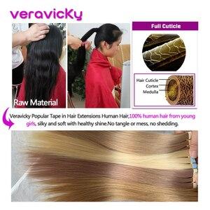 Image 2 - Remy лента для наращивания человеческих волос для наращивания на всю кутикулу натуральные волосы невидимая Кожа Уток накладные волосы для салона Волосы