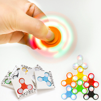 LED Light Fidget Spinner Finger Plastic EDC Hand Spinner For Autism and ADHD Relief Focus Anxiety Stress Wheel Toys Gift