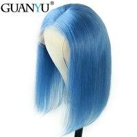 Парики из натуральных волос на кружевной основе бразильские волосы натуральные волосы лента спереди бесклеевая кружевная лента 130% плотнос