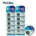 10 Unids/2 tarjeta PKCELL Batería CR2032 3 V Pila de Botón de Litio Baterías DL2032 BR2032 ECR2032 CR 2032 de Litio