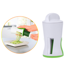 Vegetable Slicer Plastic+ Metal Salads Garnishes Carrot Spiralizer Spiral Slicer Cutter Kitchen Cooking Tools E1Xc