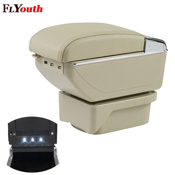 Car Armrest Box For Toyota Verso 2010-2016 USB Charging LED Light Arm Rest Rotatable Centre Console Storage Box Styling