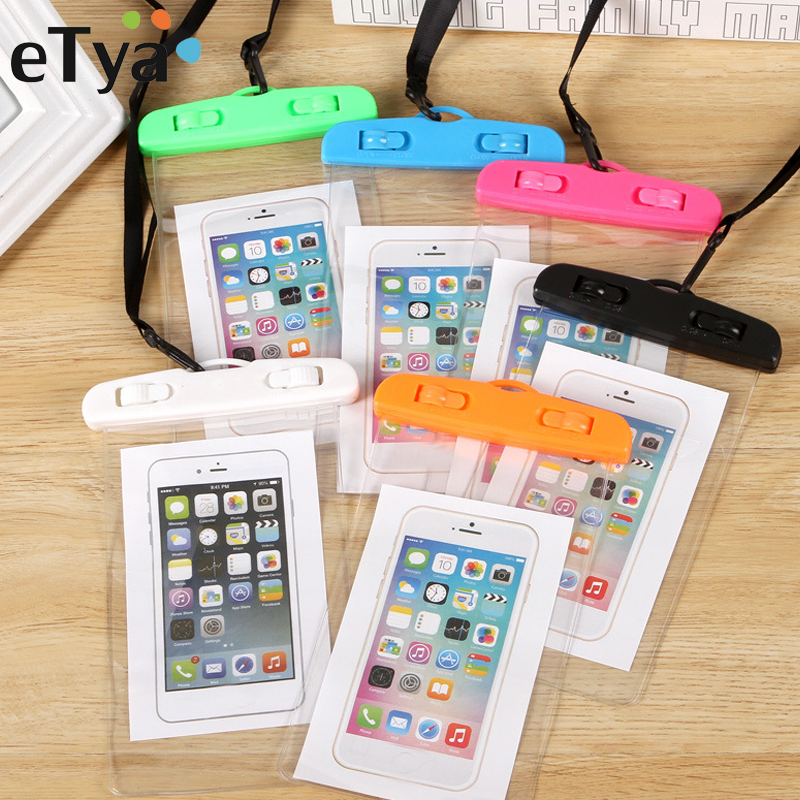 ETya Travel Phone Waterproof Bag Men Women Wallet Summer Beach Swimming Coin Card Phone Pouch Case Cover Travel Accessories