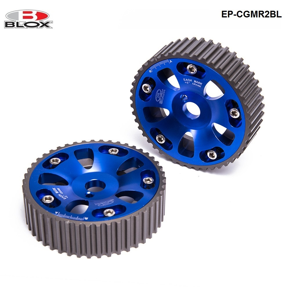 For Toyota Celica / MR2 / 3S-GTE Adjustable 2 Piece Aluminium Camshaft Cam Gear 2Pcs Blue EP-CGMR2BL