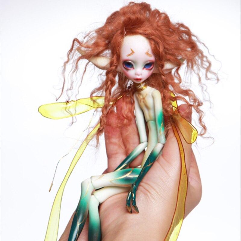 1/6 poupée-moustique jaune et vert moustique jouet poupée BJD anniversaire cadeau pour envoyer cils cils
