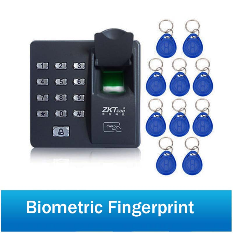 Biometric Fingerprint Access Control Intercom Machine Digital Electric RFID Code System For Door Lock Keys Tags
