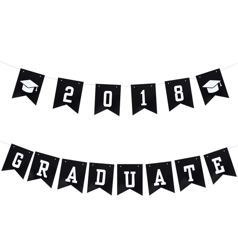 3 Meters 2018 GRADUATE Doctorial Hat Paper Banners Class of 2018 ...