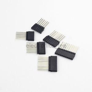 10 шт. 4/6/8/10 PIN, Однорядный прямой штырьковый разъем 2,54 мм, прямой штырьковый штифт длиной 14 мм, разъем для печатной платы arduino