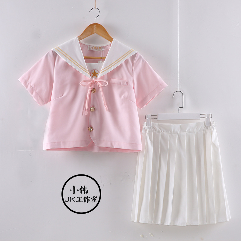 Uphyd Lolita Sailor Dress Cat Paw Print Cute Teen Girls Plus Size Summer School Dress Rich And Magnificent Dresses