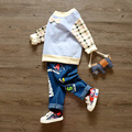 baby children's sports suit baby sweatshirts Kids Korean Autumn  t-shirt + pants trousers 2 piece sets 1-3 years