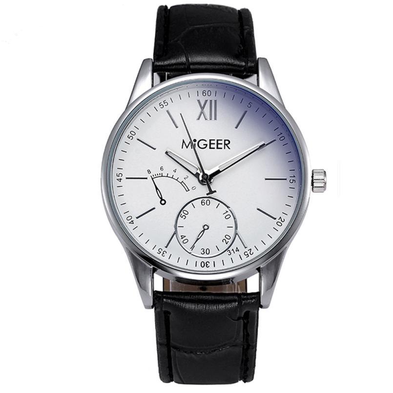 Best Selling Military Watches Men Fashion Striped Leather Quartz Wrist Watch Mens Watch Reloj Relogio Luxury