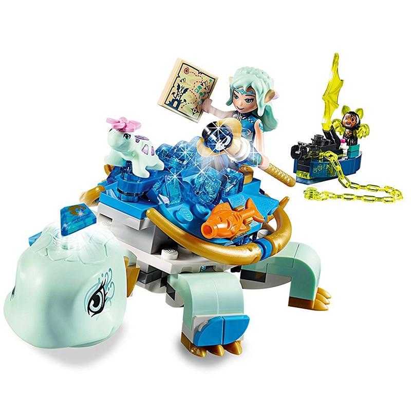 230 piezas Legoing 41191 elfos serie Naida y el agua tortuga emboscada Model Block Brick juguetes para niños 30015G