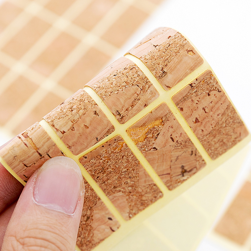 1x Handmade Wooden Labels Sticker Packaging Sealing Label Kitchen Bottle Cup Decorative Tags Planner Album Adhesive Sticker