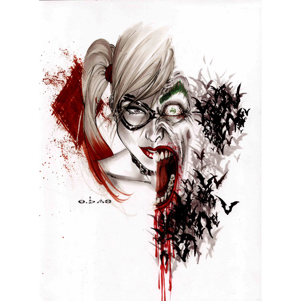 89 Best Whats New In Wallpaper Paint Fabric Images On: J0381 Harley Quinn And Joker Suicide Squad Superheroes Pop